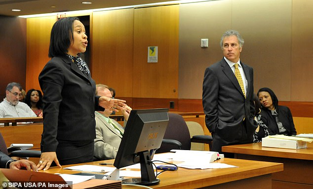 Fulton County District Attorney Fani Willis, left, while prosecuting during a hearing in Atlanta in 2013