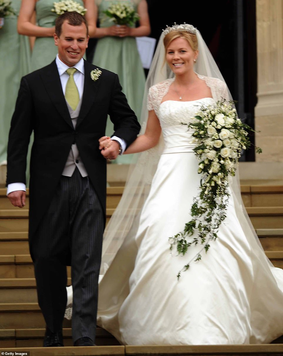 Peter announced the end of his marriage to Canada-born Autumn (pictured on their wedding day in 2008), 41, last February but the former couple have been living together at Gatcombe Park for the sake of their daughters Savannah, ten, and Isla, eight