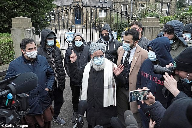 Protesters spoke to the Press during demonstrations at the school gates during the furore