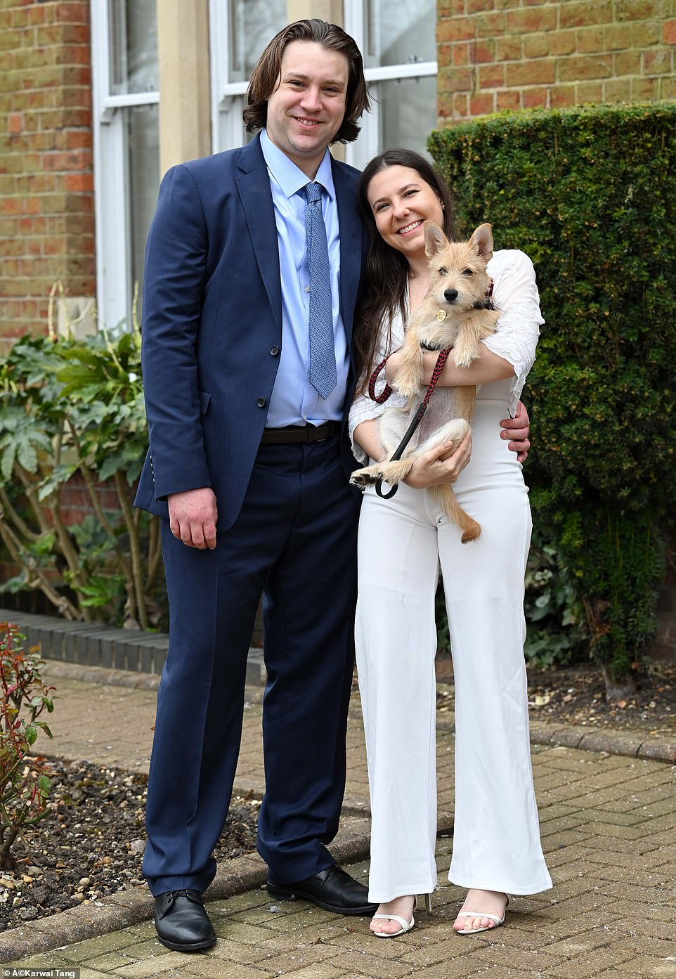 Ben and Gabriela Lloyd are the first couple to get married at St Albans Registry Office after the relaxation of the lockdown rule in the UK