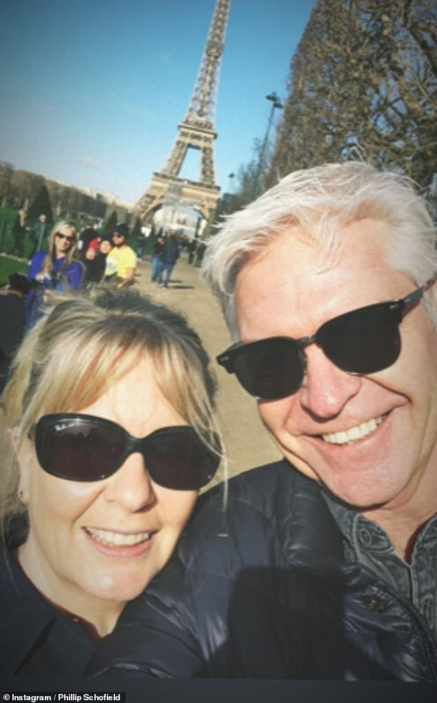 Close: The pair jetted on a sweet family holiday to Paris last February, just weeks after his revelation (pictured)