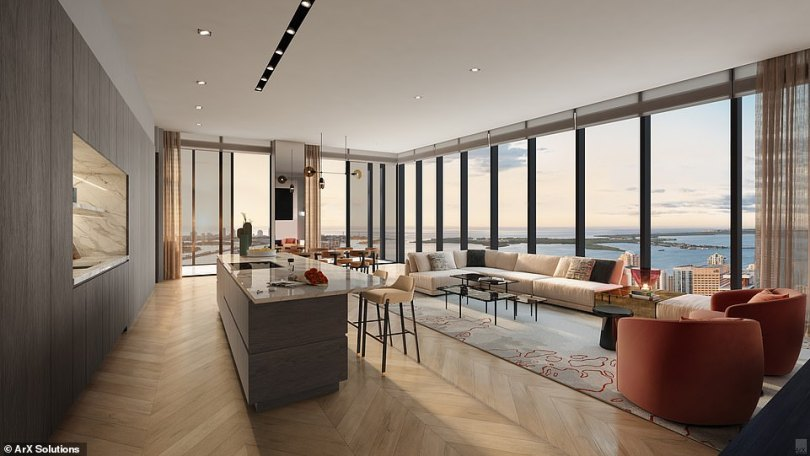 All of the residences will offer 'the latest smart-home technology with custom mobile app access to concierge service'