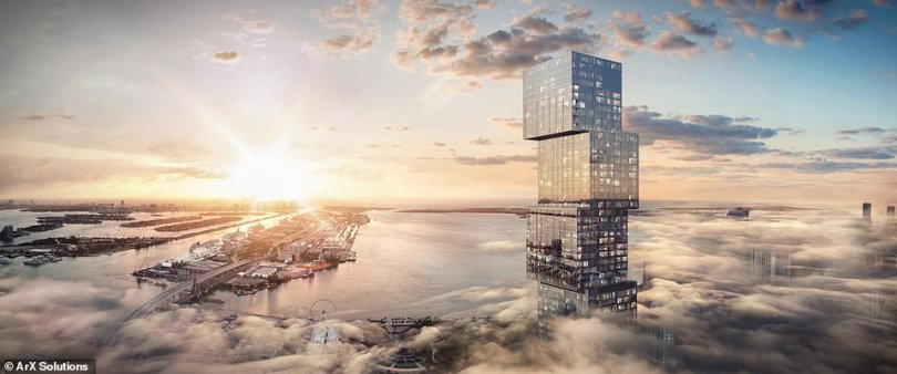The property - Waldorf Astoria Residences Miami ¿ will consist of 360 private residences costing from $1million (£724,575) as well as 205 guestrooms and suites within a five-star hotel