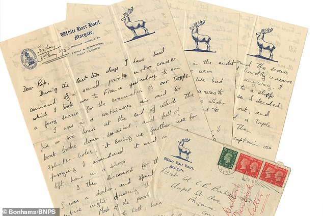 The six page letter is now expected to fetch £1,200 with London-based auctioneers Bonhams