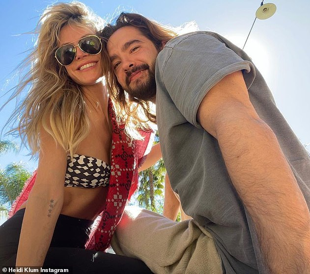 Smitten:Heidi tied the knot with Tom, 31, in 2019 in a lavish Capri wedding. The TV personality has been married twice before