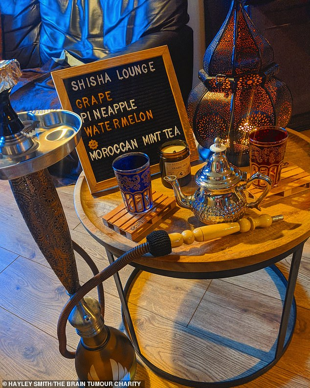 Hayley also put on a shisha evening on March 14 this year, where they feasted on Arabic food and celebrated their sixth wedding anniversary