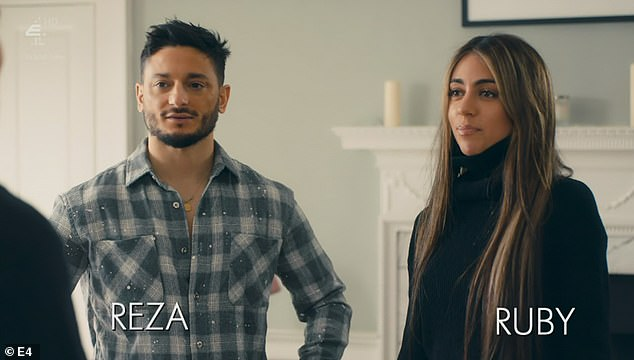 R'n'R:Reza and Ruby have come along for the ride. Reza always looks absolutely fuming, as if he's about to put a fist through a wall. Turns out 'lockdown has been intense' for the long-term couple. Lots of tiffs about pasta