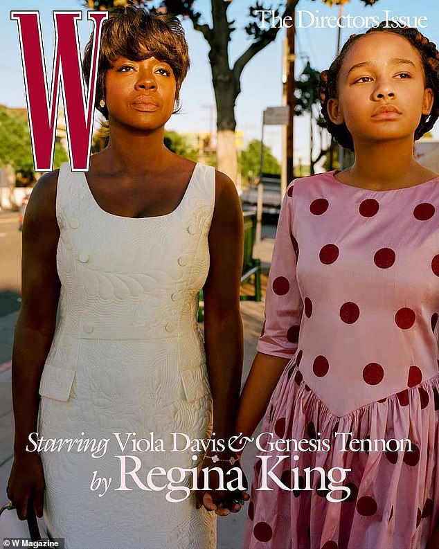'The best shoot of my life':The talented twosome just collaborated on a stirring Black Americana photo essay for the April edition of W Magazine directed by Regina, 50; and starring Viola, 55; and her family