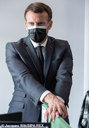 In the face of vaccine nationalism and clashes between countries, the Prime Minister, French president Emmanuel Macron (pictured) and German chancellor Angela Merkel - among others - warned against isolationism