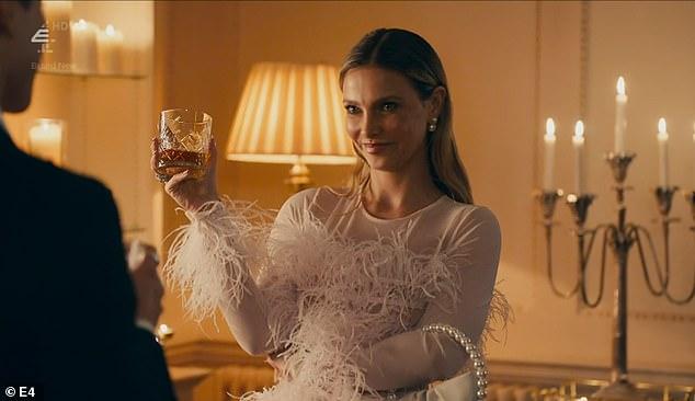 Virginal: It's black tie night and Sophie is dressed as a swan