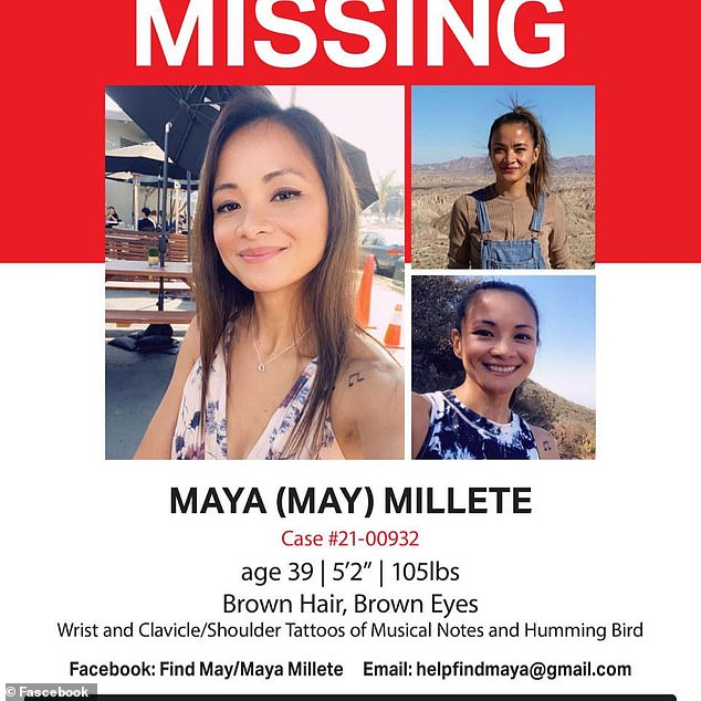 Posters of the missing mother-of-three have been posted around the area