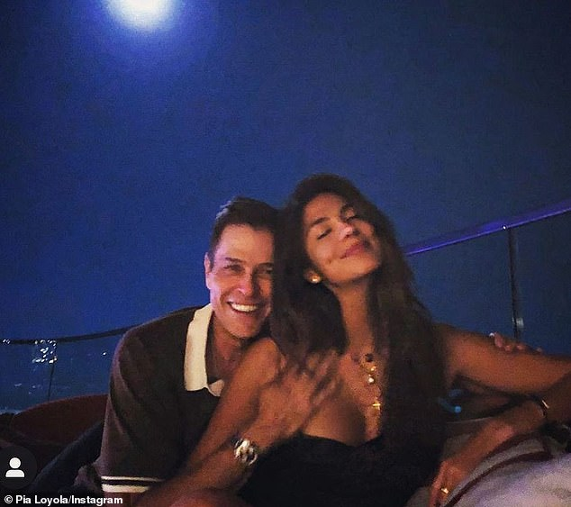 Happily ever after: Pia announced her engagement Patrick, who is the executive chairman of the Endeavor talent agency, on November 28
