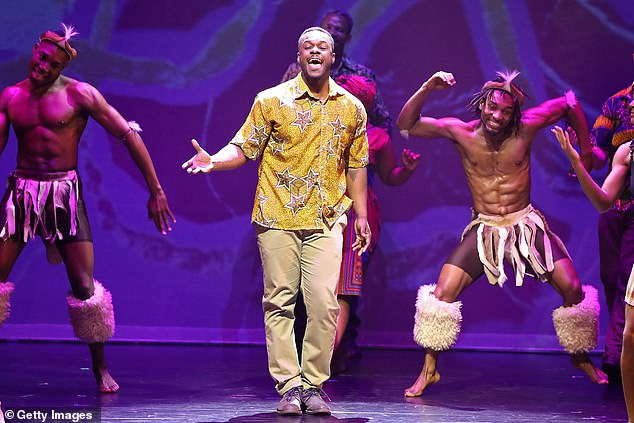 On stage: Tim also starred in stage productions of Fame: The Musical, MADIBA The Musical – A Celebration of the Life of Nelson Mandela (pictured), and Saturday Night Fever