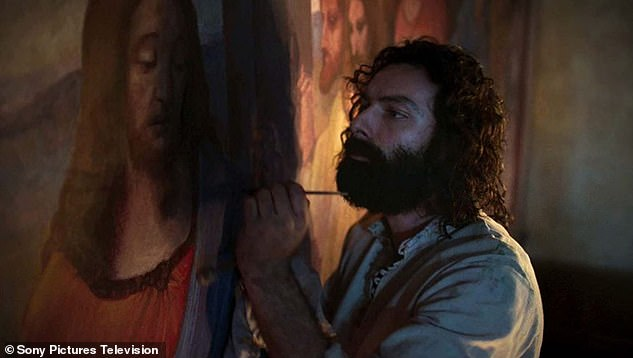 Watch out for: Aidan plays Italian Renaissance artist Leonardo Da Vinci in new series, which will explore the painter's life