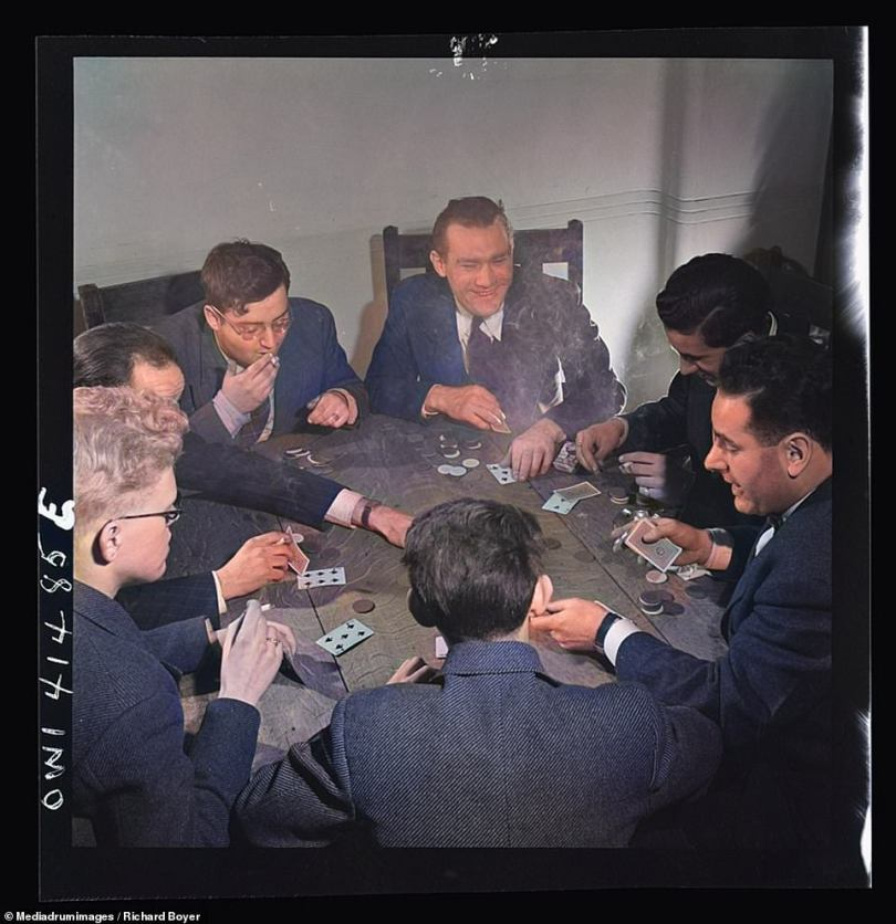 Over the years games and pastimes have evolved and adapted in a number of ways. This photograph from New York City in 1944 shows a group of men sat around a table at an institute for the blind. They are playing a game using a deck of Braille cards so that they can identify each card from the others