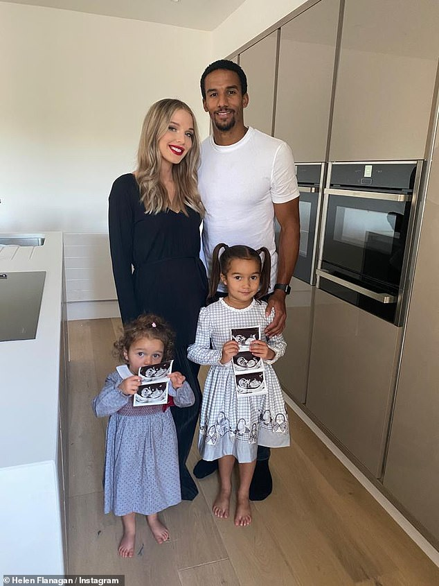 Family:Helen revealed the happy news of her pregnancy in September, sharing sweet family photos while showing off her bump
