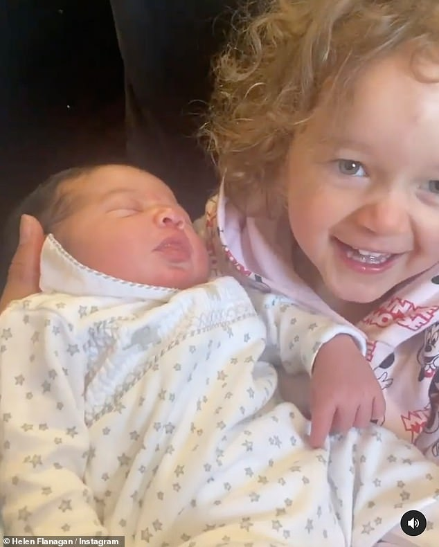 Aw!Helen Flanagan has shared the moment her daughter Delilah met her newborn son Charlie for the first time on her Instagram page
