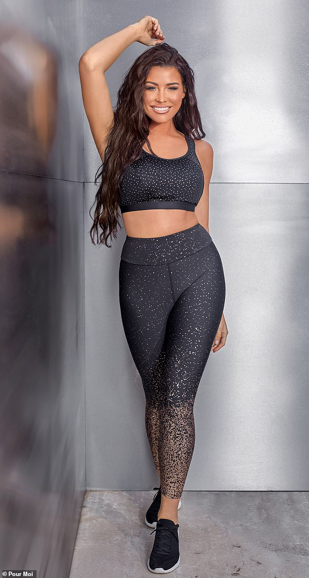 'The quality is amazing': Jess told MailOnline her new Pour Moi collection that features lingerie, swimwear and workout gear is 'well suited to a woman with curves'