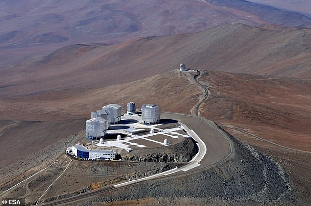 Bird's eye view of the Very Large Telescope in theremote, sparsely populated Atacama Desert in northern Chile