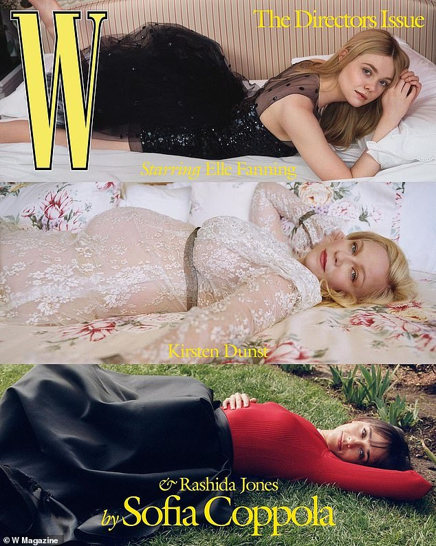 Bold: Kirsten called on her Rodarte designer friends Laura and Kate Mulleavy to create a custom gown for the 'All Dressed Up With Nowhere to Go' photo shoot directed by Sofia Coppola for W's annual Directors Issue