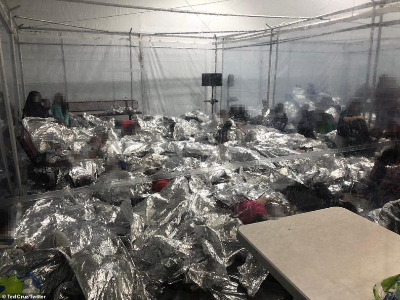 Republican lawmakers have been criticizing the Biden administration on its border policies - Senator Ted Cruz led a tour last week and released photos of his visit to a crowded migrant shelter in Donna, Texas