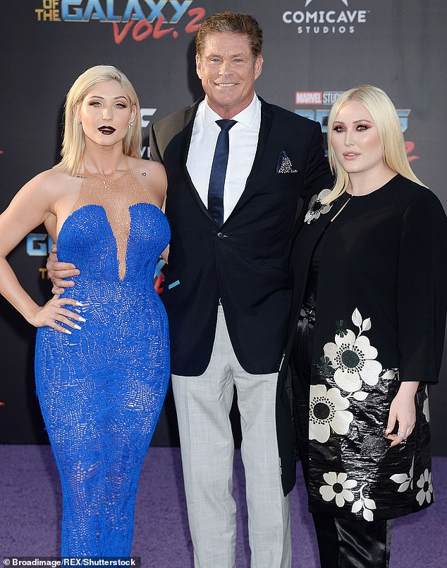 The former Knight Rider star has two daughters from his marriage to second wife Pamela Bach: Taylor Ann Hasselhoff, 30, and Hayley Hasselhoff, 27. Seen here in 2017
