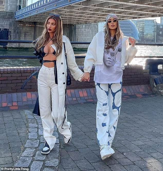 Wow:Francesca Farago looked like she'd fit right into TOWIE as she posed for a striking shoot with girlfriend Demi Sims clad in head-to-toe PrettyLittleThing