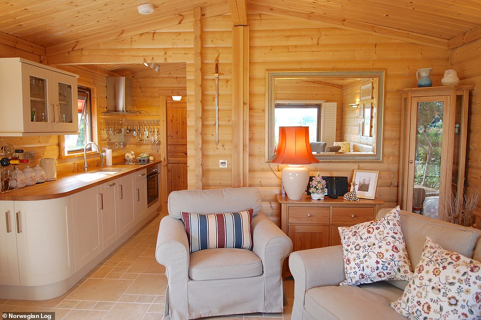 Cosy: This two-bedroom Cresta model, which starts from £52,000, offers a second bedroom for a carer if needed