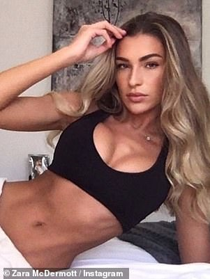 Admission: Last month, Zara revealed she secretly went under the knife to have her boobs made 'fuller and more symmetrical' (pictured after)