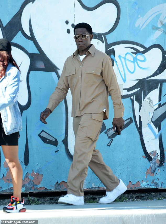 Evergreen: Independent Spirit Award nominee Wesley Snipes was also on set portraying Kid's (Hart) wayward big brother Carlton in the fictionalized drama based on his rise as a comic