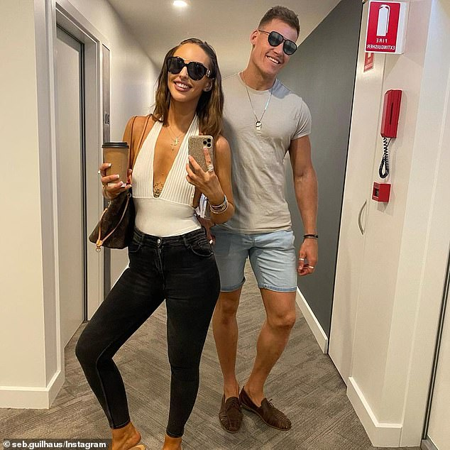 Spurring them on: Seb's recent Instagram post also fuelled speculation that the pair had reunited. On Wednesday, the retired football player, 31, shared a series of loved-up photos of the couple and wrote: 'You don't need a label to have a connection'