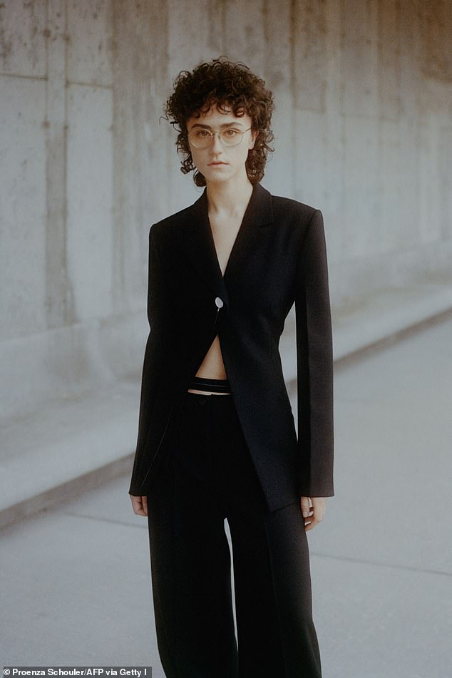 Debut: Last month the Parsons School of Design fine art student nabbed her first high-profile modeling gig, storming the runway for Proenza Schouler at New York Fashion Week