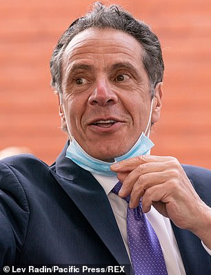 Governor Andrew Cuomo is seen above on Friday