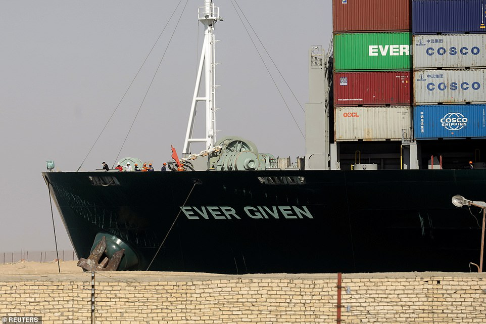 The pilots and crew onboard the 220,000-ton Ever Given could be arrested and 'made scapegoats' for the container ship's grounding, it has been claimed