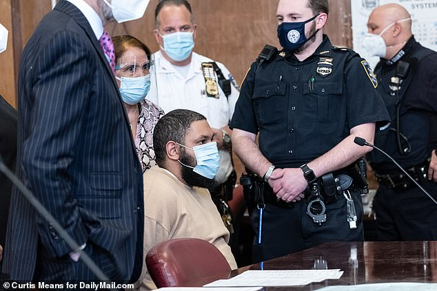 On Tuesday, Manhattan Supreme Court heard that Santos, who has a history of violence and a lengthy arrest record, that evaluations conducted by the state determined he is mentally fit to stand trial