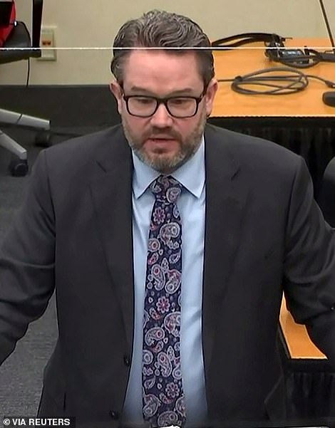 Chauvin's attorney Eric Nelson (pictured) argued that Floyd's death was caused by his underlying heart disease, drug use and 'adrenaline'