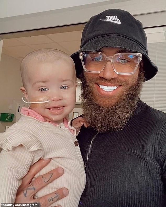 Determined: Safiyaa and partner Ashley Cain recently raised more than £1.5 million to fund the trip but she was being treated in the UK during the interim