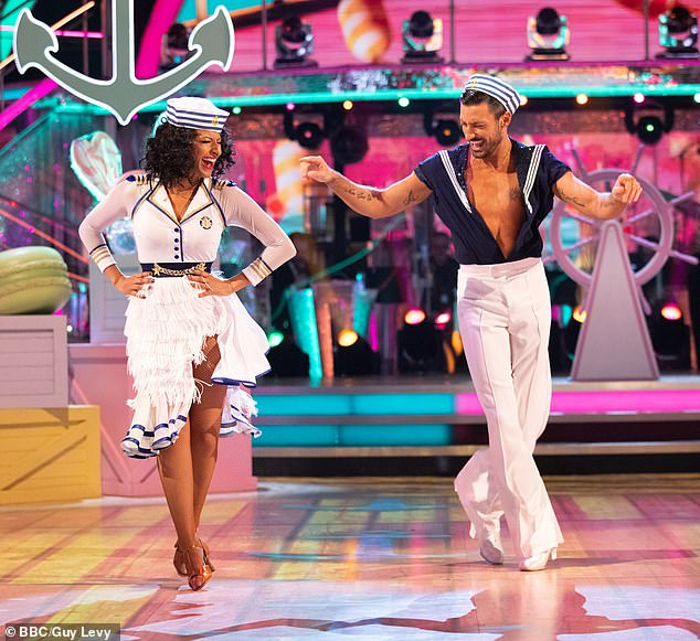 Jive talking: Ranvir and her professional partner Giovanni Pernice were eliminated from Strictly one week ahead of the final, after her jive received low scores from the judges