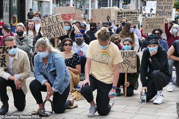 Pictured: A Black Live Matter Protest, Henley on Thames, Oxfordshire, June 9, 2020
