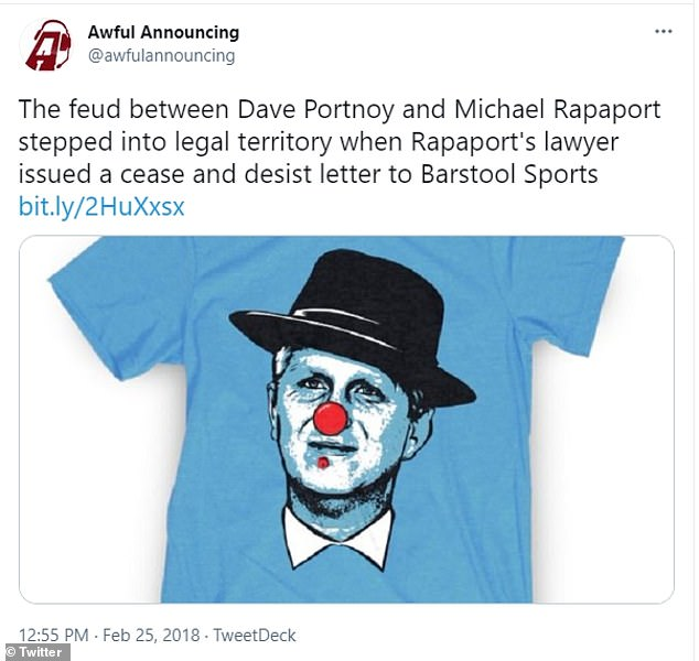 Curiously, the comments were revealed a day after a federal judge dismissed a defamation lawsuit Rapaport filed against Barstool Sports and its founder Dave Portnoy over a t-shirt depicting the actor with a case of herpes. Durant actually referenced that lawsuit in one of the Instagram attacks he launched at Rapaport in December.