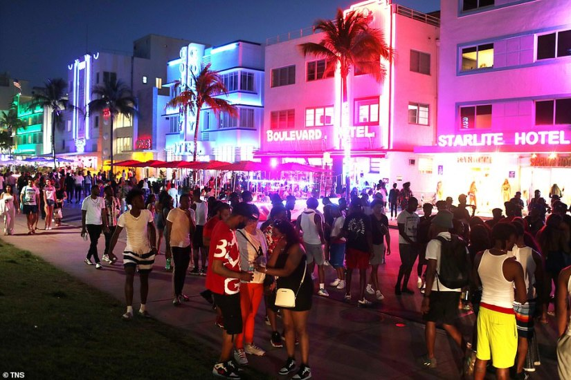 Spring Breakers are partying on in fully opened Florida, where cases have risen 12 percent in the past two weeks