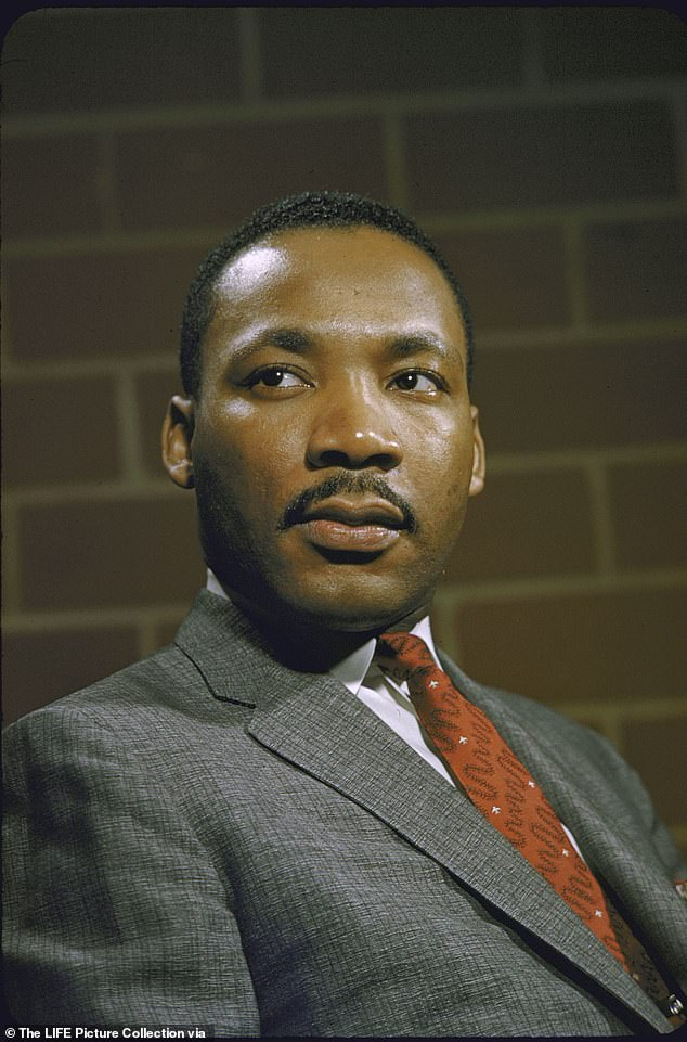 Wise words: Critics were not pleased with Justin's paraphrased version of Dr. King's sermon he gave at the Ebenezer Baptist Church in Atlanta, Georgia in November 1967
