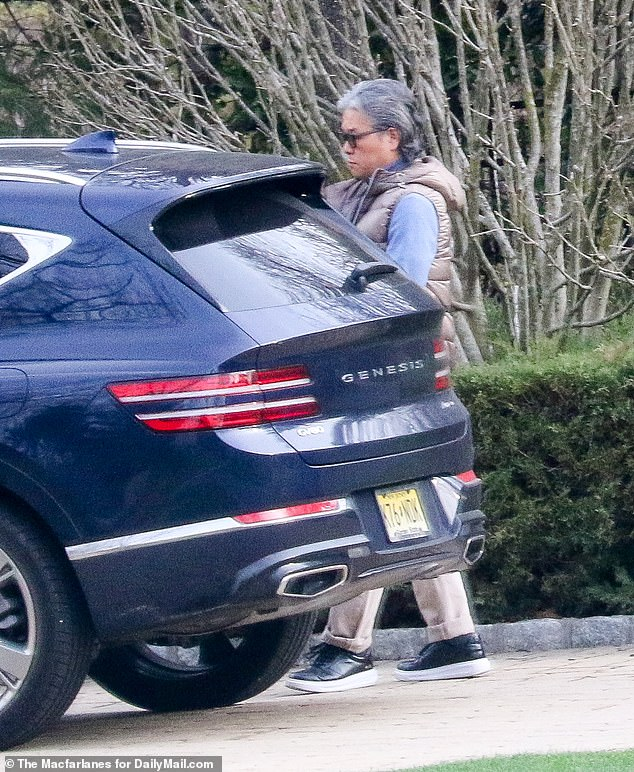 Bill Hwang, real name Sung Kook Hwang, was spotted outside his Tenafly, New Jersey home on Tuesday amid the fallout from the collapse of his New York-based firm Archegos Capital Management last week