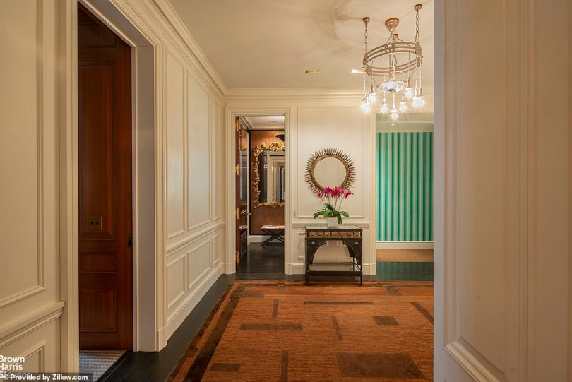 The apartment is an 'extraordinary residence with exquisite details,' according to brokerage Brown Harris Stevens