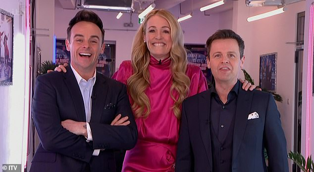 Back together!It comes after Cat returned to British screens last month by reuniting with her SMTV co-hosts Ant McPartlin and Declan Donnelly on Saturday Night Takeaway