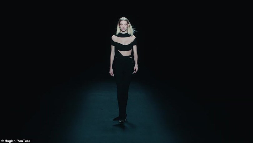 Phenomenal: Euphoria star and fellow model Hunter Schafer was otherworldly and sublime in several getups for the show, from Mugler creative director Casey Cadwallader