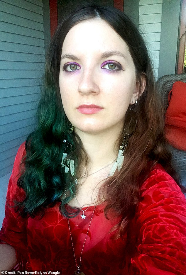 Kalynn Wangle, 28, from Oregon, U.S, recorded the enigmatic presence moving slowly through the loch whilst watching the livestream of the loch in the Scottish Highlands