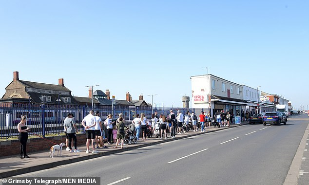The business owner claimed customers were all abiding by the two-metre rule and keeping their distance following criticism over the opening on Wednesday