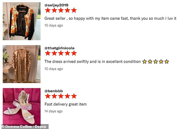 Answer: Most of Gemma's customers seem happy with the service as she has received several positive reviews on the site