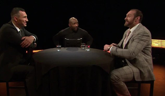 Wladimir Klitschko (left) denied that Tyson Fury had won any mind games against him